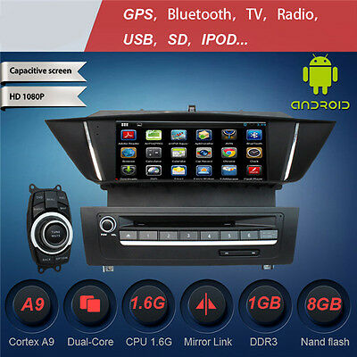 Bmw X1 E84 Autoradio Gps Android 4Core Dvd Usb Sd Mp3 Wifi 3G Divx Obd Canbus Zk
