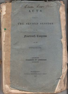 Original 1827 Acts Passed at 2nd Session of the 19th Congress, Indian Treaties