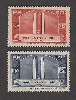 France Timbres Neufs - Vimy - N°316 et 317 * * - 1936 - TB