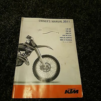 Ktm 250 Sx 2011 Owners manual