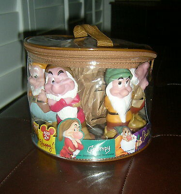 SEVEN DWARFS Squeeze Toy Play Set with Carry Case, Disney Parks