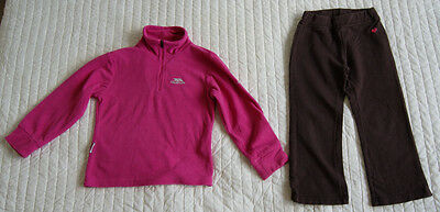 Joe fresh is joggers and Trespass is fleece for a girl 3-4 years Gr. 98 - 104 cm