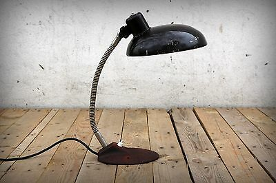 Antique Vintage Industrial Factory Retro Workshop Table Kaiser Idell Style Lamp