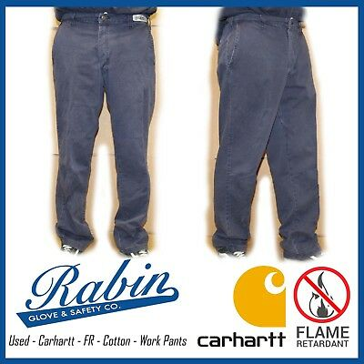 Cotton FR Work Pants - Carhartt - Flame Retardant - Navy
