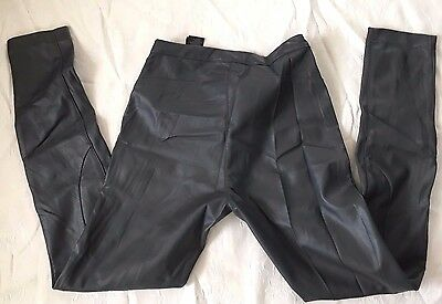 Gorgeous H&M Ladies Stretchy Grey Faux Leather trousers size 10, usa 8