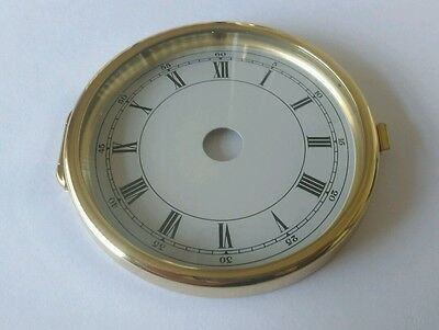 Brass Clock Bezel and Glass 78mm Roman Dial