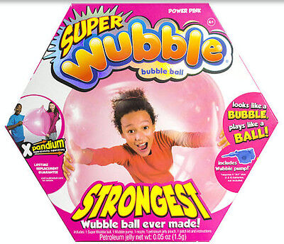 NEW Super Wubble Bubble Ball with Pump - Pink, Kids Outdoor Toy, Fun, Stronger