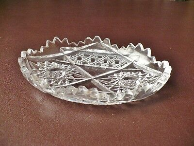 Antique Glass Pin-Dish - Nibbles Dish - Party Ware