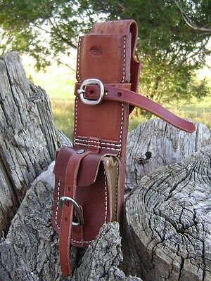 """Fence Plier SADDLE SCABBARD with STAPLE POCKET fits any 10.5"""" plier, Moore Maker"""