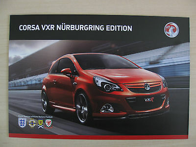 Vauxhall Corsa VXR Nurburgring Edition UK Sales Brochure (2011)