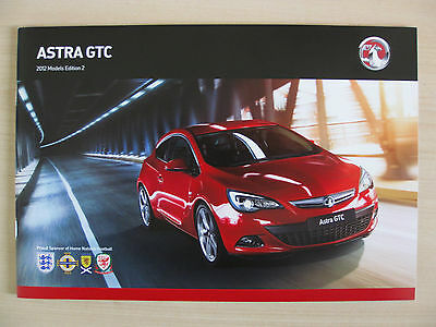 Vauxhall Astra GTC UK Sales Brochure (2012 Ed 2)