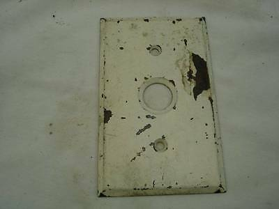 Antique Brass Push Button Switch Cover Electrical Vintage Plate Cover USA #39