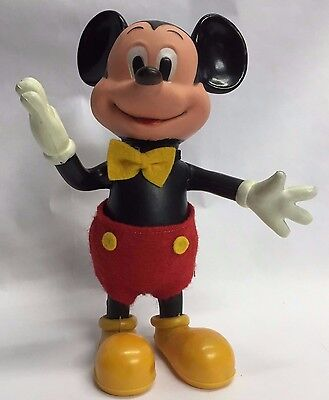 Mickey Mouse Doll 7.5 inches Hard Plastic Articulated Arms Legs