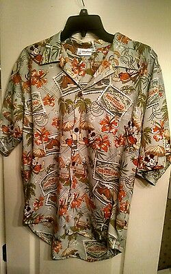Disney Parks Authentic Mickey Mouse Hawaiian shirt. Children's size XL