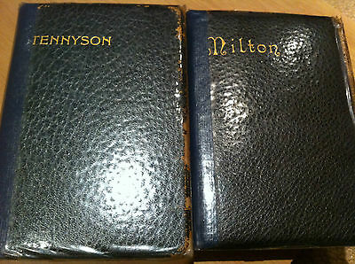 2 Antique Books Of Poetry (Milton And Tennyson) 1904 And 1917