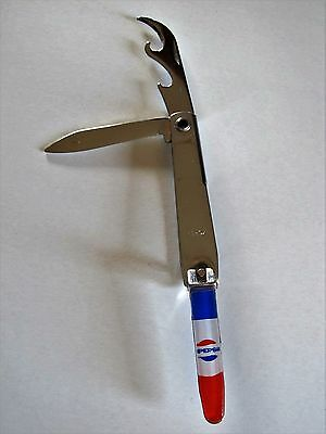 Vintage Bell 1970s 80s RARE PEPSI COLA Nail Clippers Pocket Knife Bottle Opener