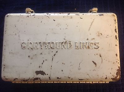 Rare Vintage Greyhound Bus Lines First Aid Kit with Supplies