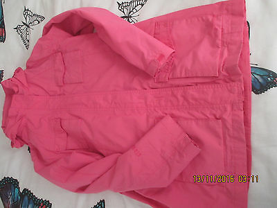 Girls Peter Storm Jacket, Age 11-12. Pink, Used But Vgc