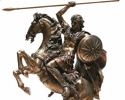 Alexander the Great Greek King Warrior Statue Sculpture Figure Bronze Finish