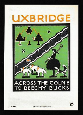 London Transport Museum Poster Modern Postcard LTM 184 Uxbridge