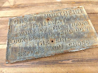 Cast Iron Old Railway Sign Great Northern Railway