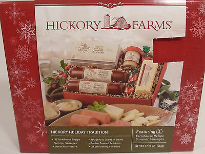 Hickory Farms 9-Piece Farmhouse Sausage Cheese Sampler Holiday Gift Basket Pack