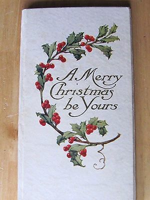 Antique Booklet A Merry Christmas Be Yours By Cupples & Leon Co New York