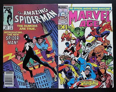 Amazing Spider-Man #252 75¢ Canadian Variant & Marvel Age #12 1St Black Costume