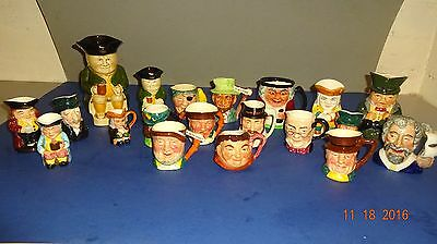 20 Toby Jugs Large and Small mixed Lot