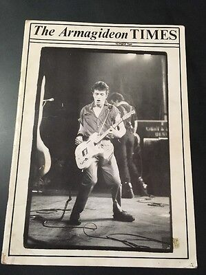 The Clash Armagideon Times Number Two Rare Uk Magazine Punk Rock
