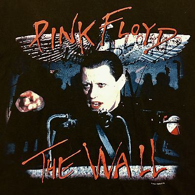 Vintage 2001 Pink Floyd The Wall Black Double Sided T-Shirt Rock & Roll Band EUC
