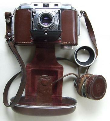 Zeiss Ikon Contina II with Tessar 45mm f/2.8 in Synchro Compur Fully Working