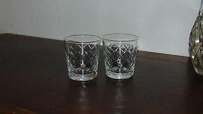 pair of matching tudor style crystal glasses tumblers