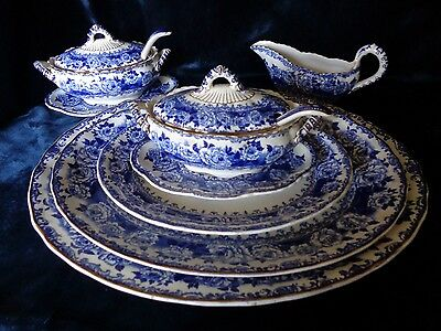 Antique Keeling & Co Late Mayers 'Chester' 1790 Part Dinner Service - 4 people