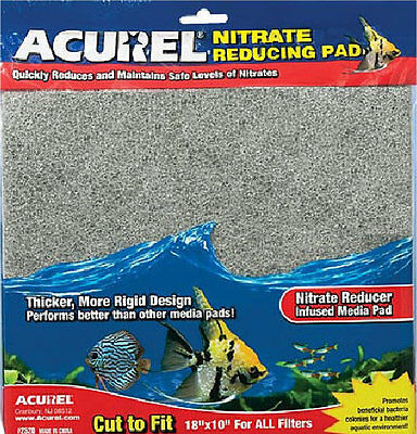 "Nitrate reducing media pad - 18"" x 10"" - cut to size to fit all filters"