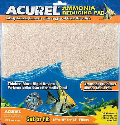 "Ammonia reducing media pad - 18"" x 10"" - cut to size to fit all filters"