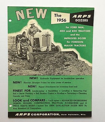 1956 NEW ARPS DOZER Brochure Ford Tractor
