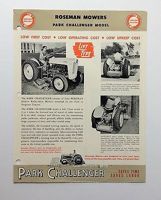 1954 ROSEMAN MOWERS Brochure Ford Tractor Golden Jubilee