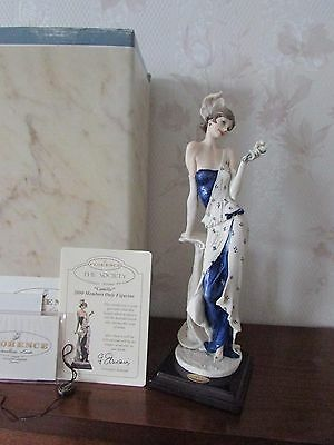 """G. ARMANI Figure Figurine Statue Sculpture """"Camille"""" Lady with Flowers, Italy"""