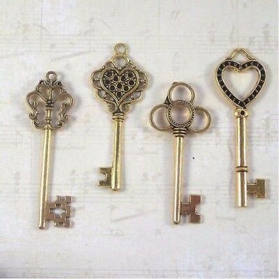 New old look keys 160 crafts parties jewelry steampunk weddings necklace events