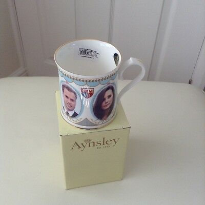 Brand new in box, Aynsley Prince William and Kate Commemorative Engagement Mug