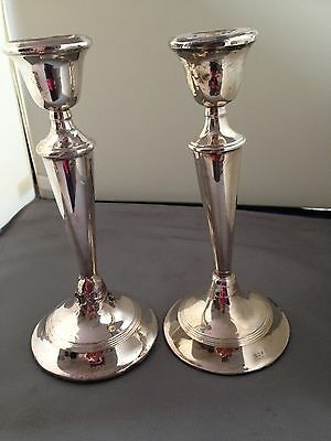A Pair Of Sterling Silver Candlesticks A/F For Scrap Or Use London 1920