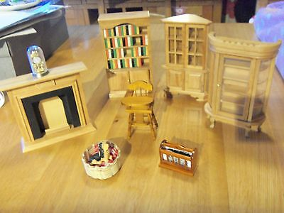 Dolls House Furniture Bundle,mixed Lot And Bedroom Furniture