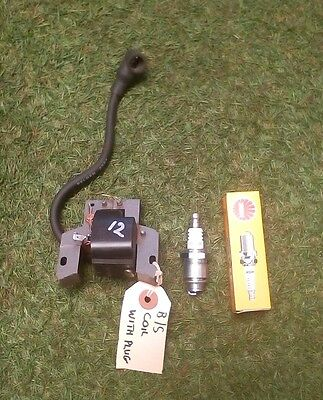 spare part for lawnmower Briggs and Stratton Ignition Coil and New Spark Plug.