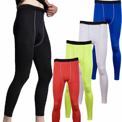 Mens Compression Baselayer Long Pants Skins Tight Leggings Bottoms Sportswear