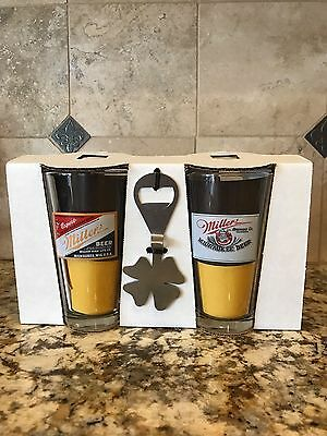 2 Miller Pint Glasses and 1 Black & Tan Tool. Perfect for layered beers!