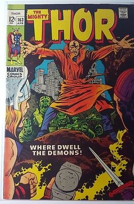 Dc Comics The Mighty Thor #163 Great Silver Age Book