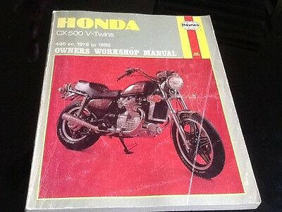 Haynes HONDA CX500 V-Twins (1978 to 1982) Owners Workshop Manual