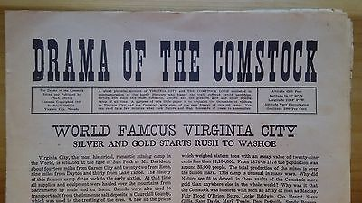 Virginia City Newspaper Drama of the Comstock 1949 Nevada Ghost/Mining Town