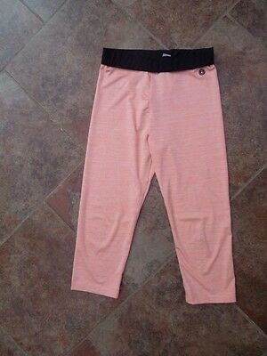 Girls 3/4 Sports Active Leggings Pants 12 Years Vgc